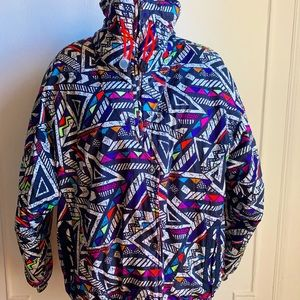 Vintage SKYR Abstract Print Jacket Coat